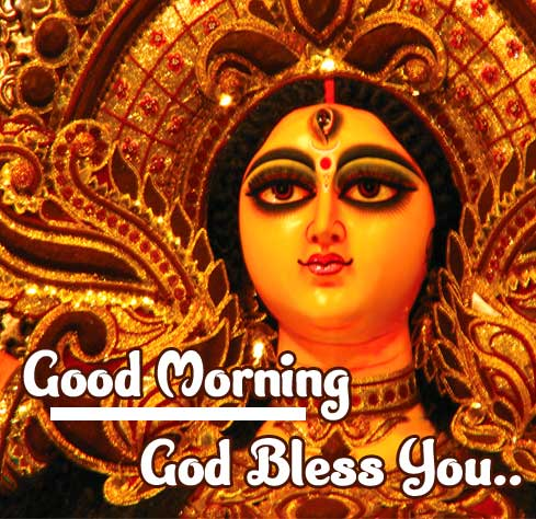 Blessing Image of Durga maa with Good morning Message Copy Copy
