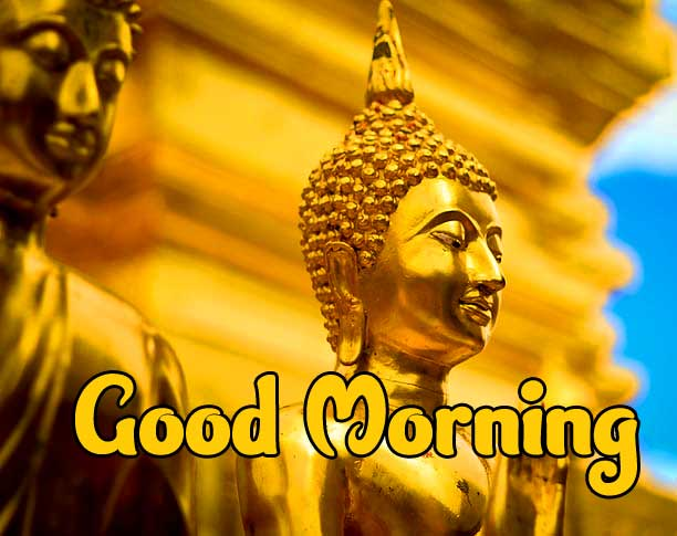 Buddha Good Morning Wishing Image