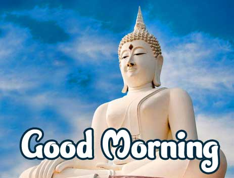 Buddha Good Morning Wishing Image HD