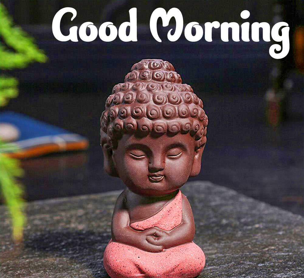 Buddha Good Morning Wishing Wallpaper