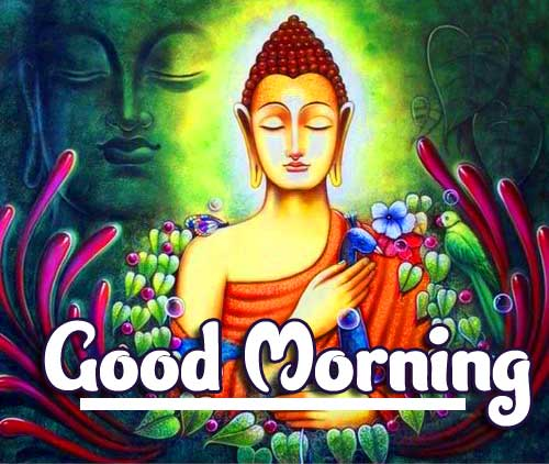 Buddha Painting with Good Morning Wishing