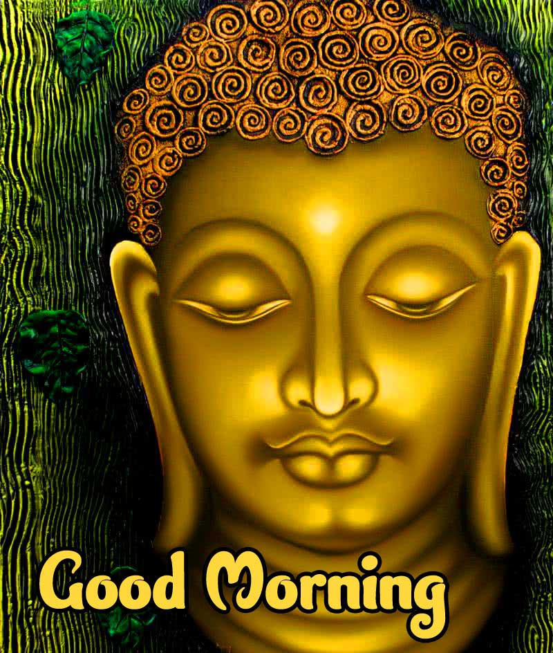 Buddha Pic with Good Morning Wishing