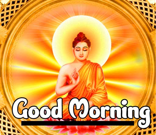 Buddha Shining with Good Morning Wishing