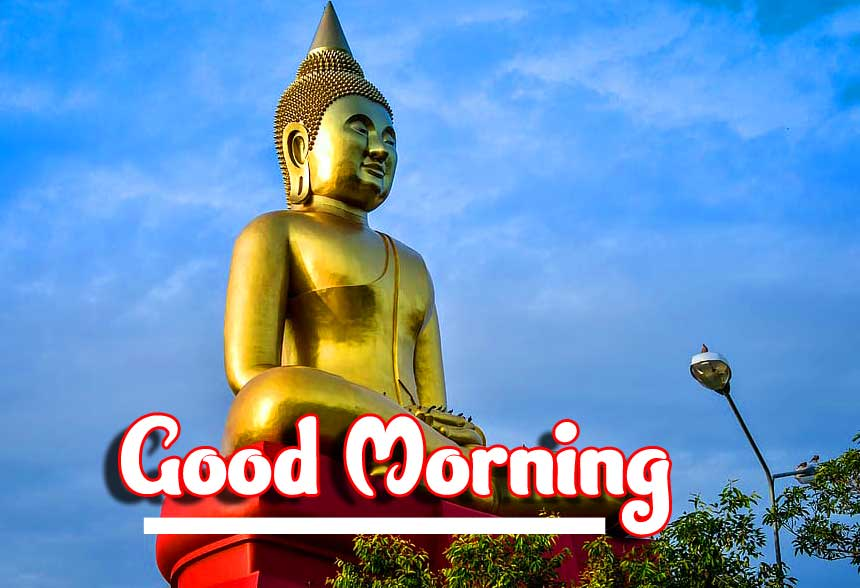 Buddha Statue with Good Morning Wishing