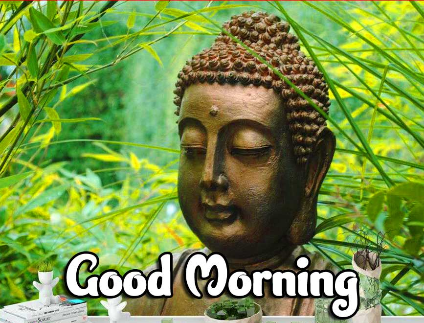Buddha Wallpaper with Good Morning Message