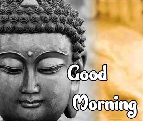 Buddha Wallpaper with Good Morning Wishing
