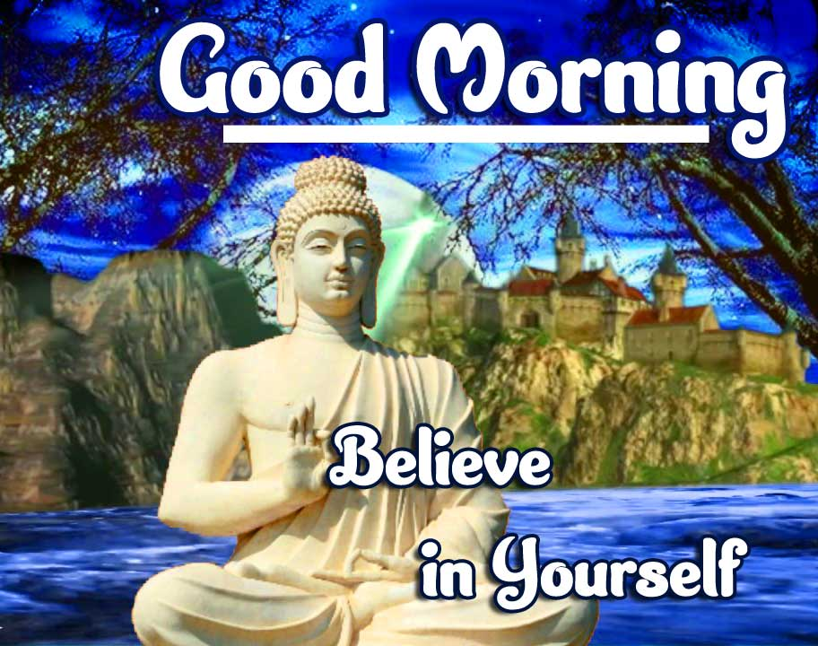 Buddha with Good Morning Pic HD