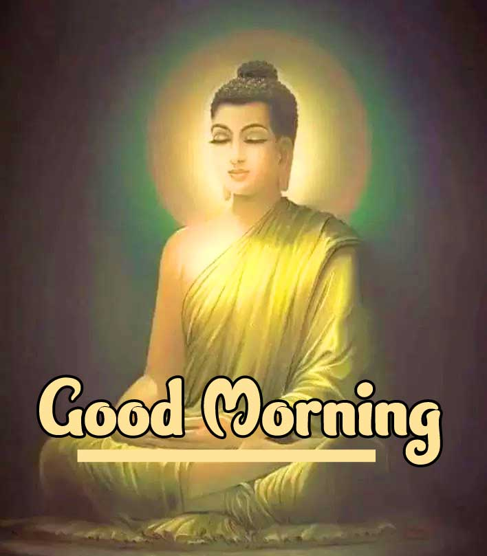 Buddha with Good Morning Pic
