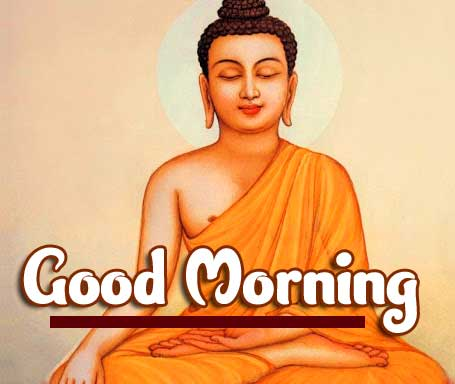 Buddha with Good Morning Wishing Image HD