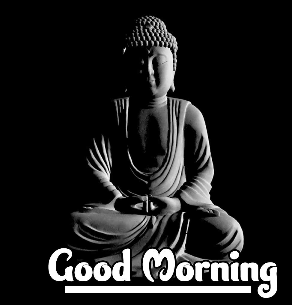 Buddha with Good Morning Wishing Photo