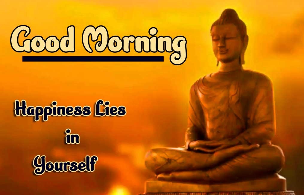 Buddha with Good Morning and Happy Day Wishing