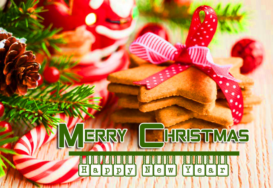 Candy Merry Christmas and Happy New Year Wallpaper
