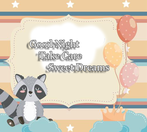 Cat Animated Good Night Wishing Image