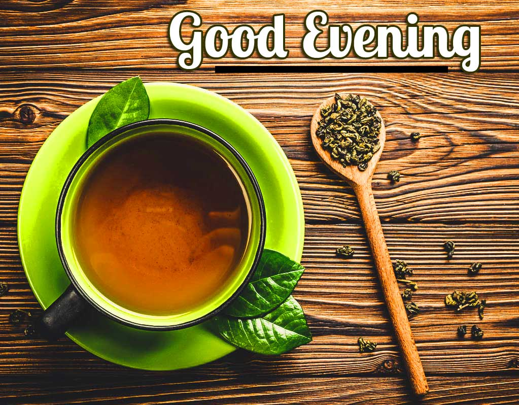 Ceramic Green Tea Cup with Good Evening Wishes