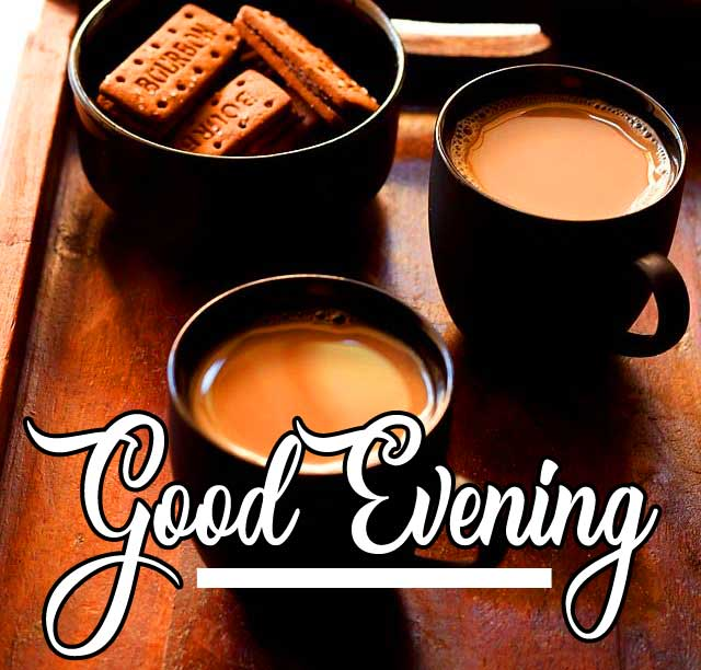 Chai and Biscuit with Good Evening Wishing