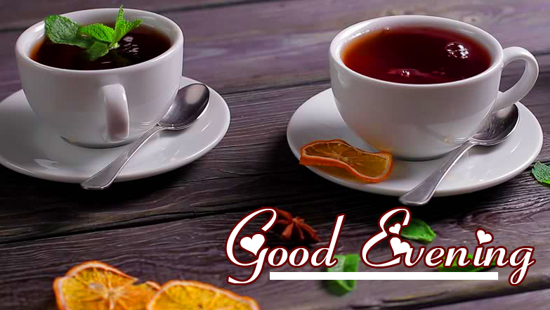 Coffee Cups with Good Evening Wishing