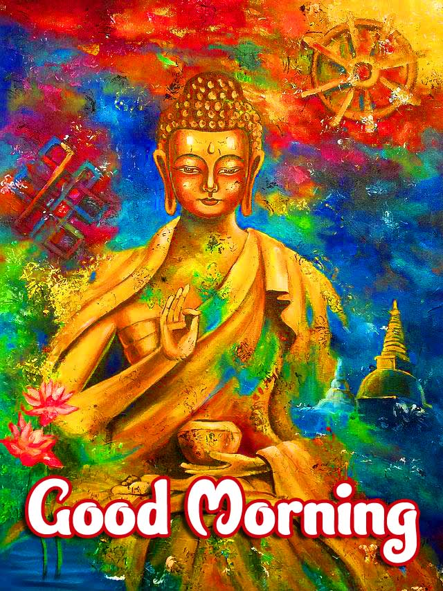 Colourful Buddha with Good Morning Wishing