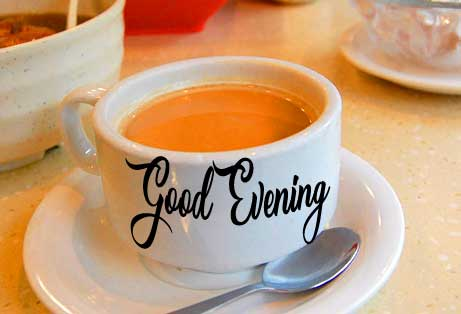 Cup and Saucer Good Evening Image