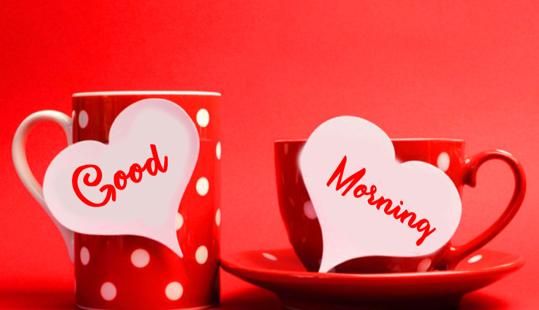 Cups with Good Morning Wishing