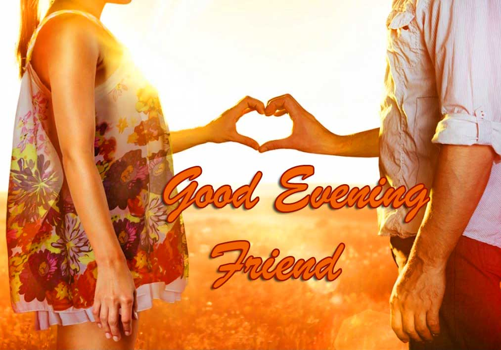 Cute Couple with Good Evening Message
