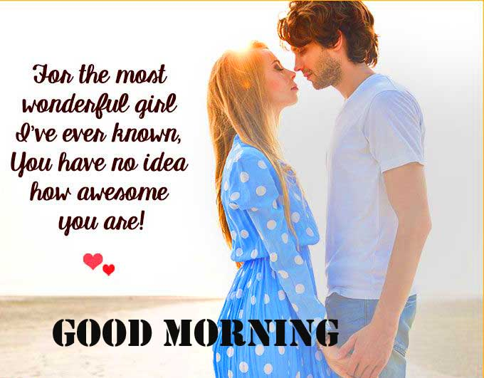 Cute Couple with Good Morning Wishing