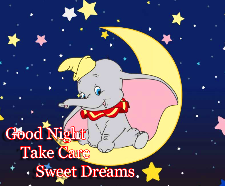 Cute Elephant Good Night Image