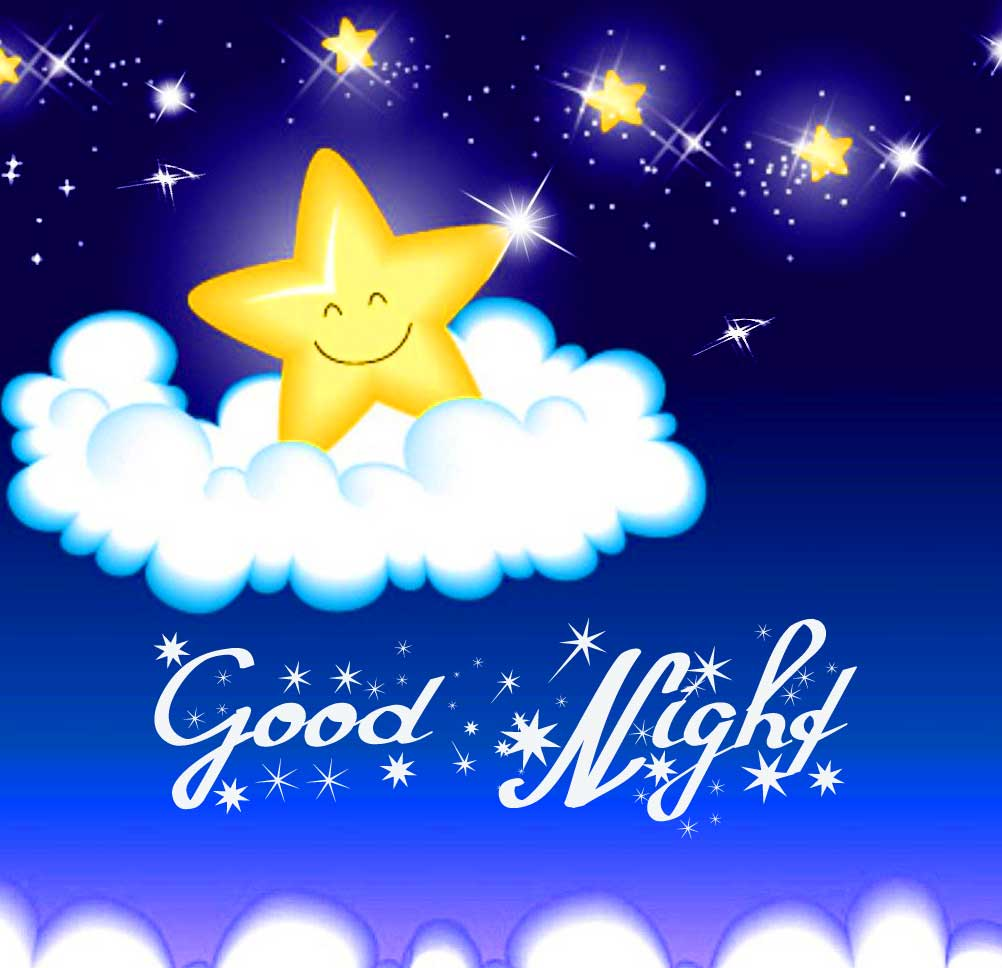 Cute Stars Good Night Wishing Image