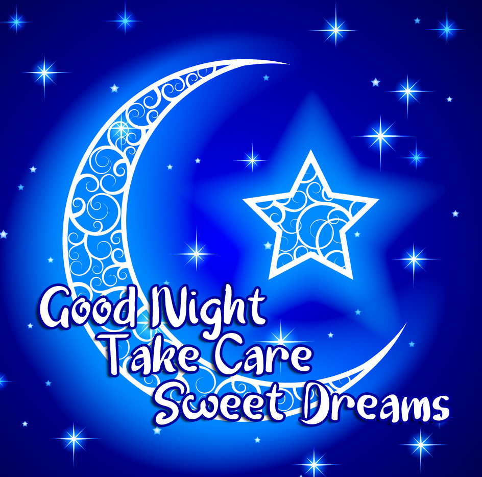 Decorative Moon with Good Night Wishing Image HD
