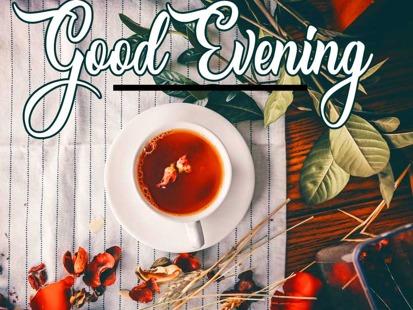 Decorative Tea Cup with Good Evening Wishing Image Copy Copy