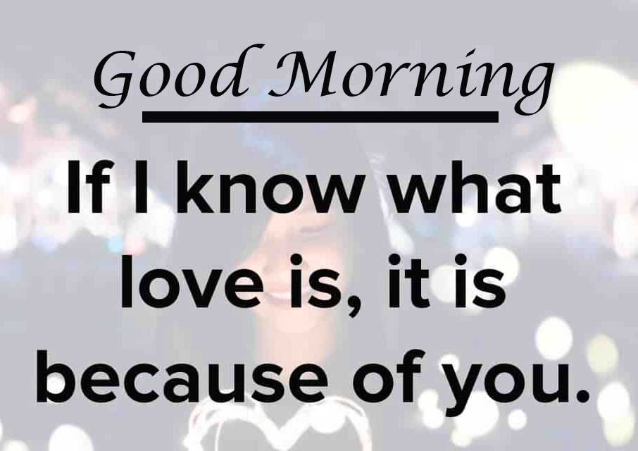Deep Love Quote with Good Morning Wishing