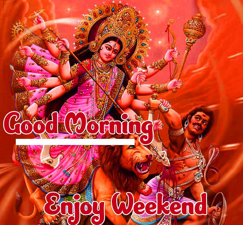 Demon and Beautiful Maa Durga Good Morning Picture Copy Copy