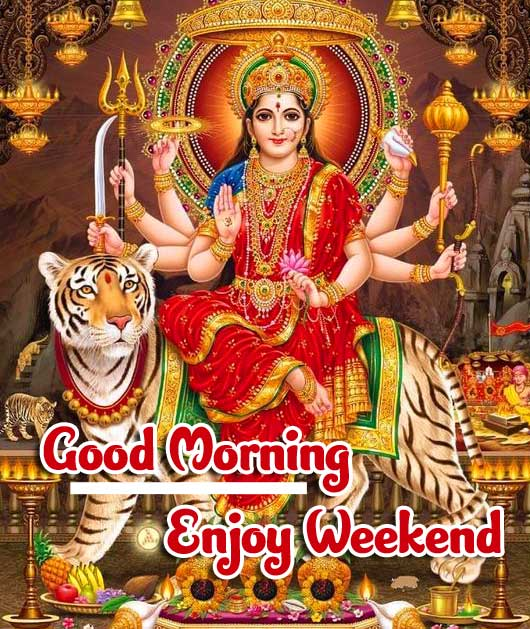 Durga Maa Picture with Good Morning Pic Copy Copy