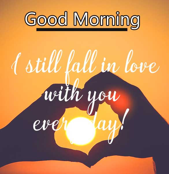 Fall in Love Quote with Good Morning Wishing