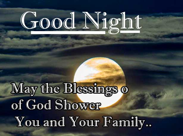Family Good Night Blessing Image