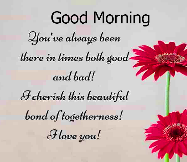 Flower Good Morning Quoted Image