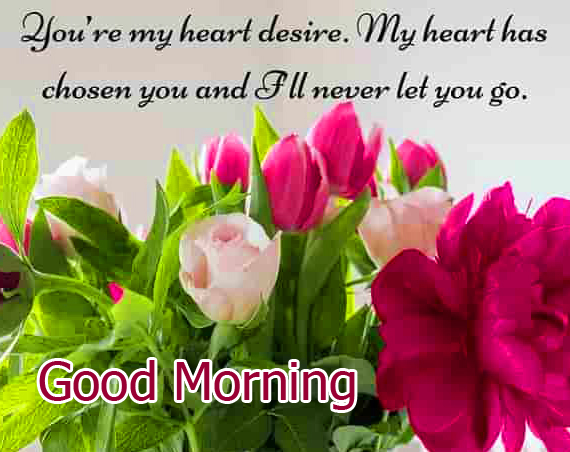 Flower Quoted Good Morning Wishing Image