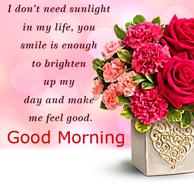 Flowers with Good Morning Wishing