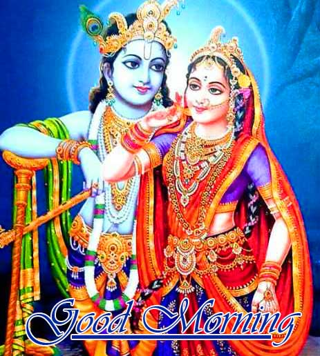 Full HD Radha and Krishna Good Morning Image