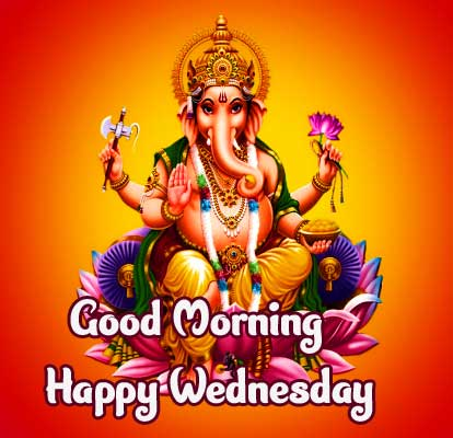 Ganpatti Bappa Good Morning and Happy Wednesday Image HD D Picture Copy Copy Copy