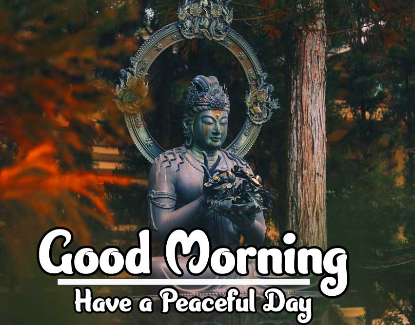 Gautam Buddha with Good Morning Wishing Photo