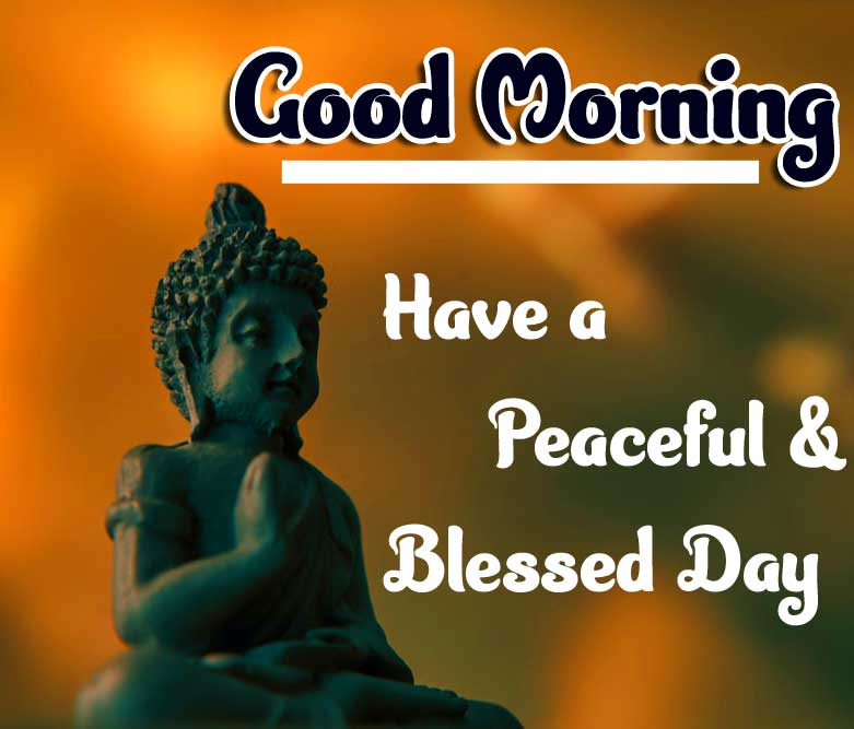 Gautam Buddha with Good Morning Wishing Picture HD