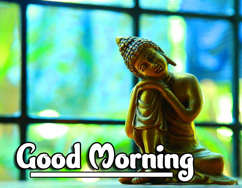 Gautam Buddha with Good Morning Wishing Picture