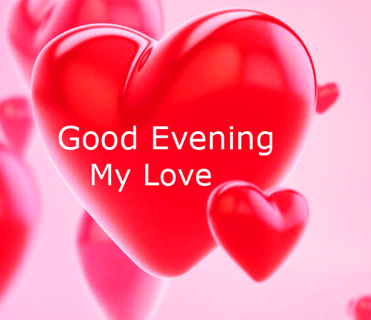 Good Evening Red Heart Image