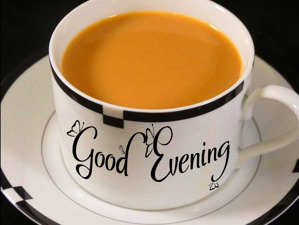 Good Evening Wishing on White Tea Cup Copy Copy