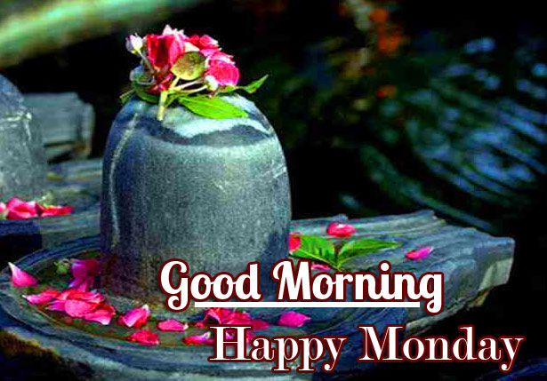 Good Morning Happy Monday on Shivling Photo