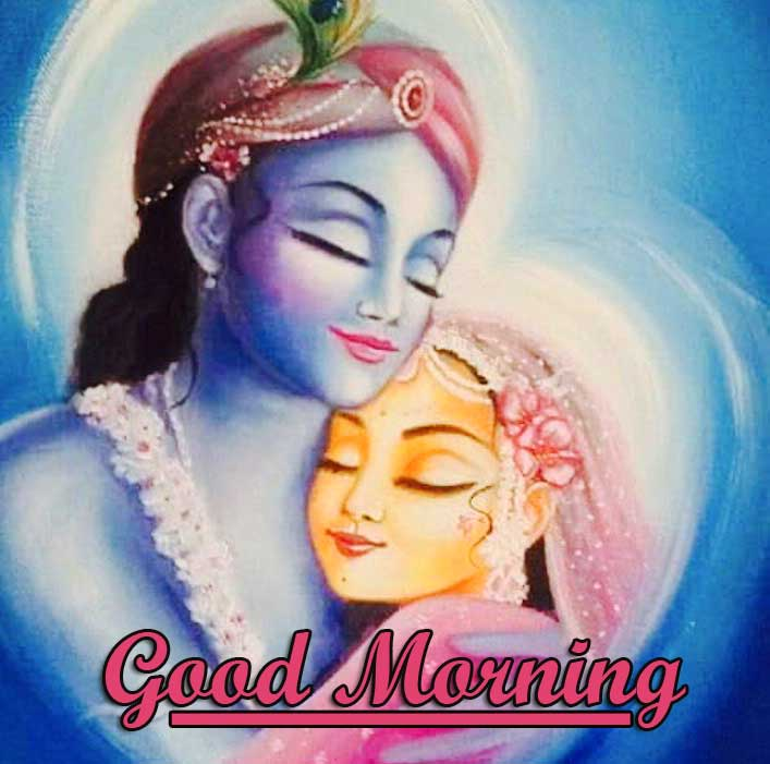 Good Morning Radha and Krishna Photo