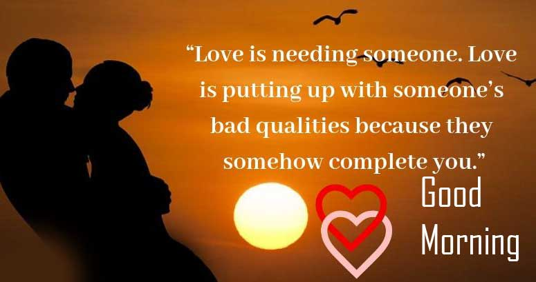 Good Morning Romantic Quoted Image HD Copy Copy