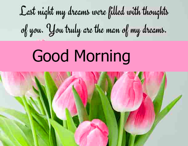 Good Morning Tulips Quoted Image