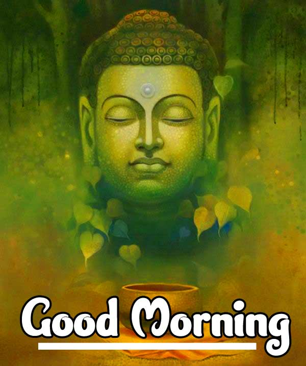Good Morning Wishing on Budda Photo