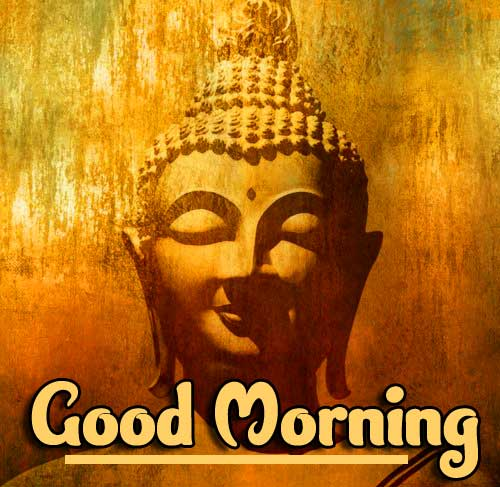 Good Morning Wishing on Buddha Photo HD